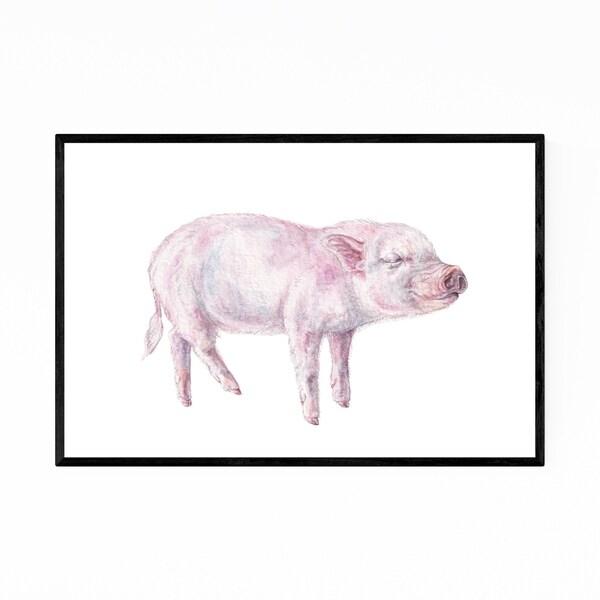 Noir Gallery Piglet Animal Painting Nature Framed Art Print