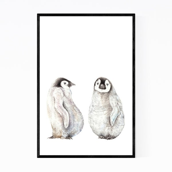 Noir Gallery Penguin Animal Painting Nature Framed Art Print