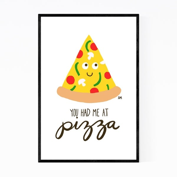 Noir Gallery Cute Pizza Quote Food Kitchen Framed Art Print
