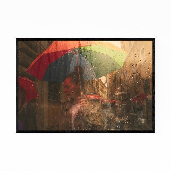 Noir Gallery Rainy Rome Italy Photography Framed Art Print