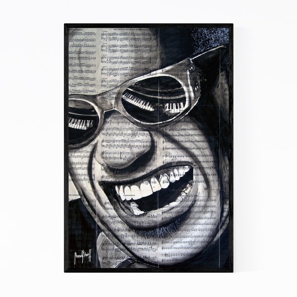 Noir Gallery Ray Charles Music Pop Culture Icons Framed Art Print
