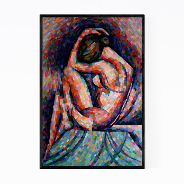 Noir Gallery Nude Figurative Abstract Painting Framed Art Print