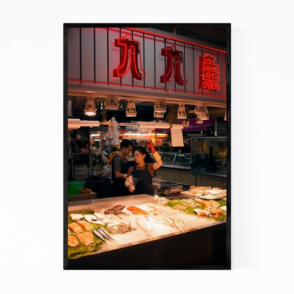 Noir Gallery Taipei Taiwan Urban Photography Framed Art Print