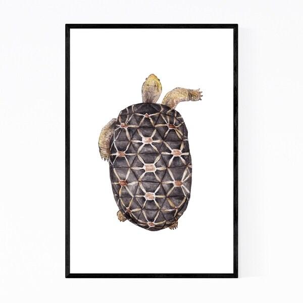 Noir Gallery Tortoise Animal Painting Nature Framed Art Print
