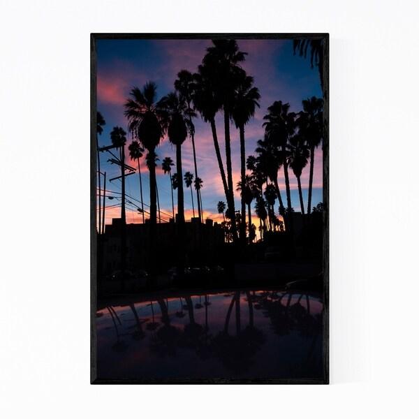 Noir Gallery Palm Trees Sunset Los Angeles Framed Art Print