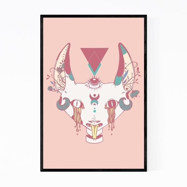 Noir Gallery Cat Serpent Animal Fantasy Framed Art Print