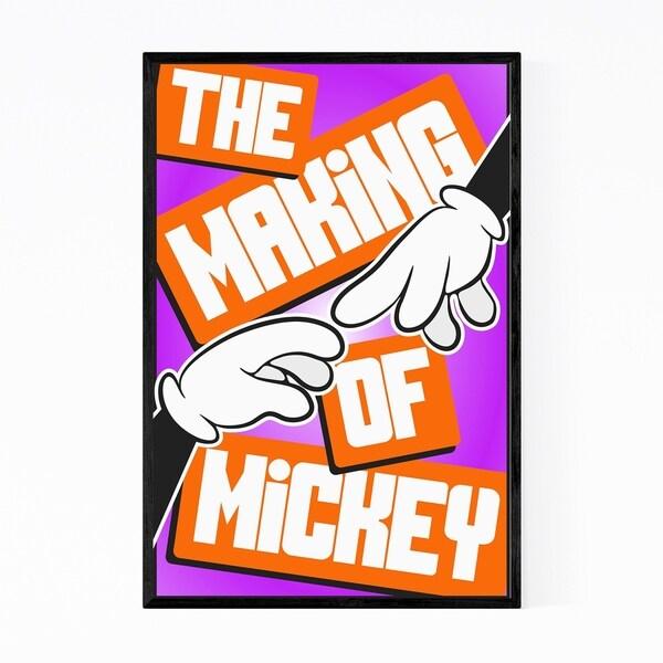 Noir Gallery Cartoon Character Poster Framed Art Print
