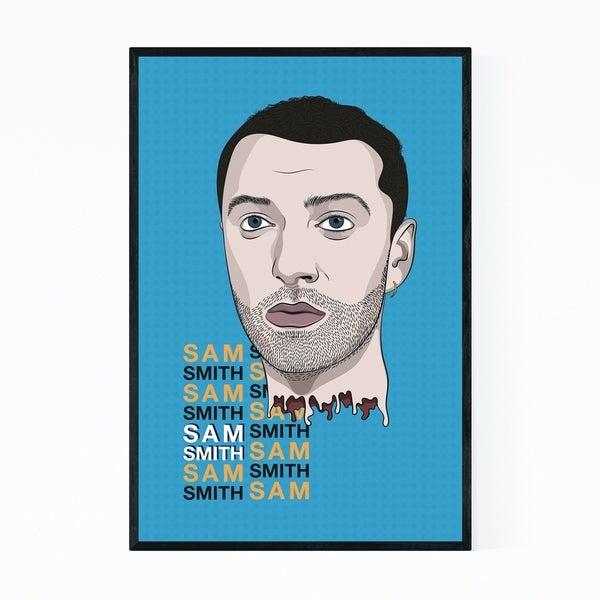 Noir Gallery Sam Smith Music Poster Framed Art Print