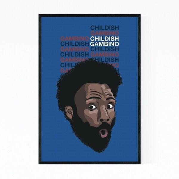 Noir Gallery Childish Gambino Music Poster Framed Art Print