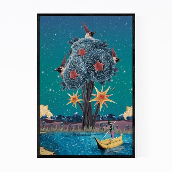 Noir Gallery Starfish Corals Ocean Beach Surreal Collage Framed Art Print