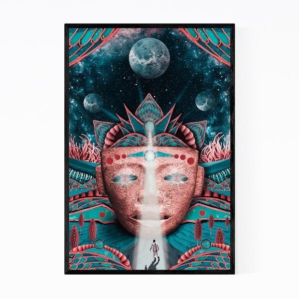 Noir Gallery Universe Astronomy Spiritual Collage Framed Art Print