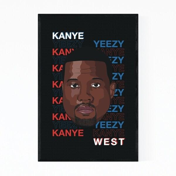 Noir Gallery Kanye West Yeezus Music Poster Framed Art Print