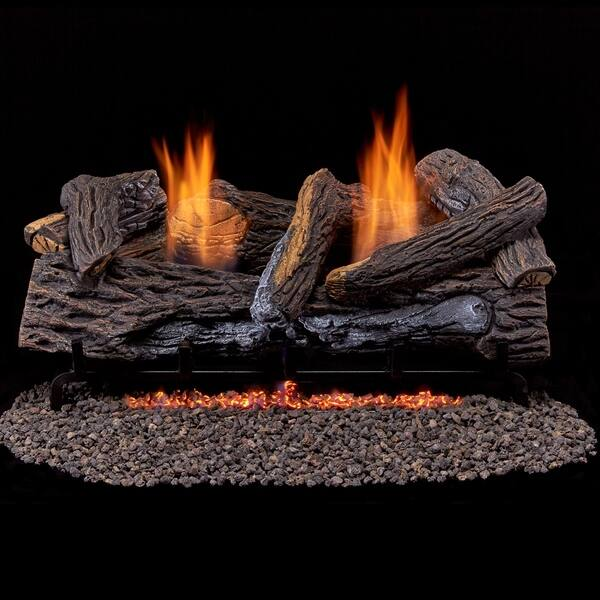 Duluth Forge Ventless Dual Fuel Gas Log Set 24 In