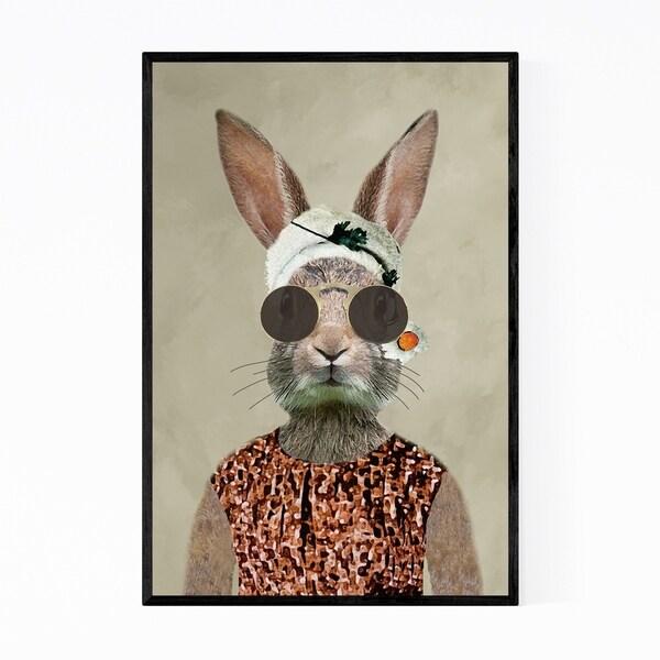 Noir Gallery Vintage Rabbit Painting Framed Art Print
