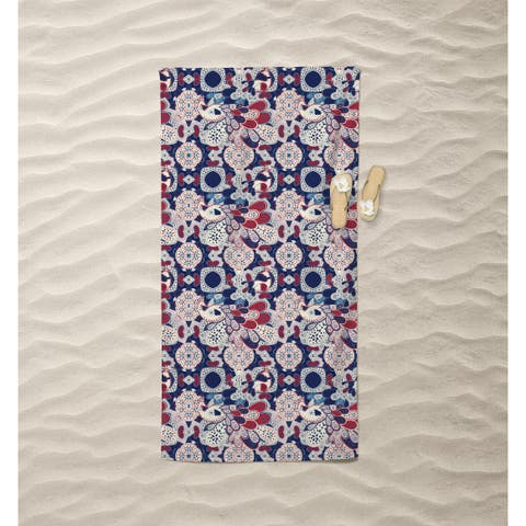 Mughal with Squares Beach Towel by Amrita Sen