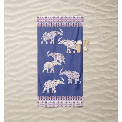 Elephant of Paisley Beach Towel by Amrita Sen