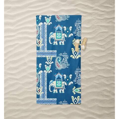 Elephant Carriage Beach Towel by Amrita Sen