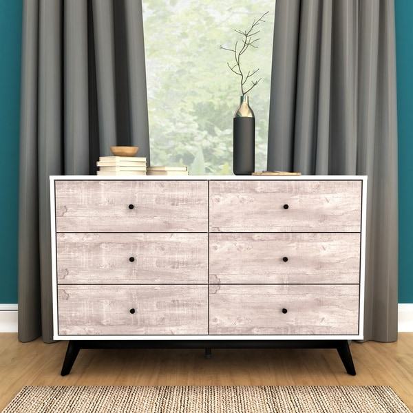 Simple Living Crislana 6-Drawer Dresser