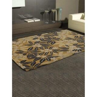 Botanical Hand Tufted Wool Carpet Modern Indian Oriental Area Rug