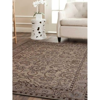 Traditional Oriental Carpet Indian Area Rug Hand-Tufted Wool