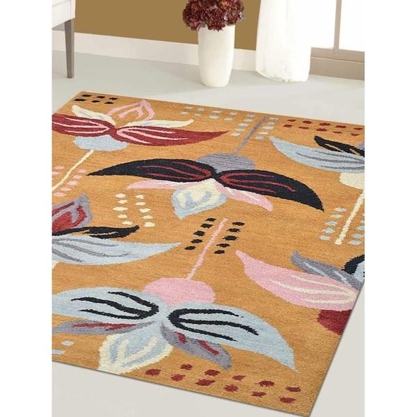 Modern Oriental Hand-Tufted Wool Carpet Indian Area Rug