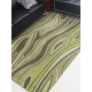 Abstract Hand Tufted Wool Carpet Indian Oriental Modern Area Rug