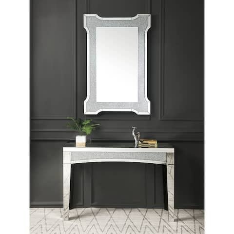 Nowles Wall Decor in Mirrored & Faux Diamonds
