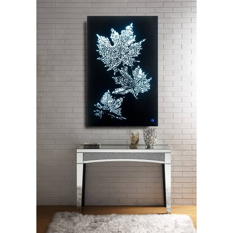 Hadrias Wall Art with LED in Mirrored & Faux Diamonds