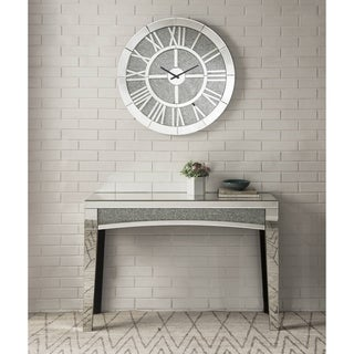 Nowles Wall Clock in Mirrored
