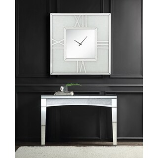 Noralie Wall Clock in Mirrored & Faux Diamonds