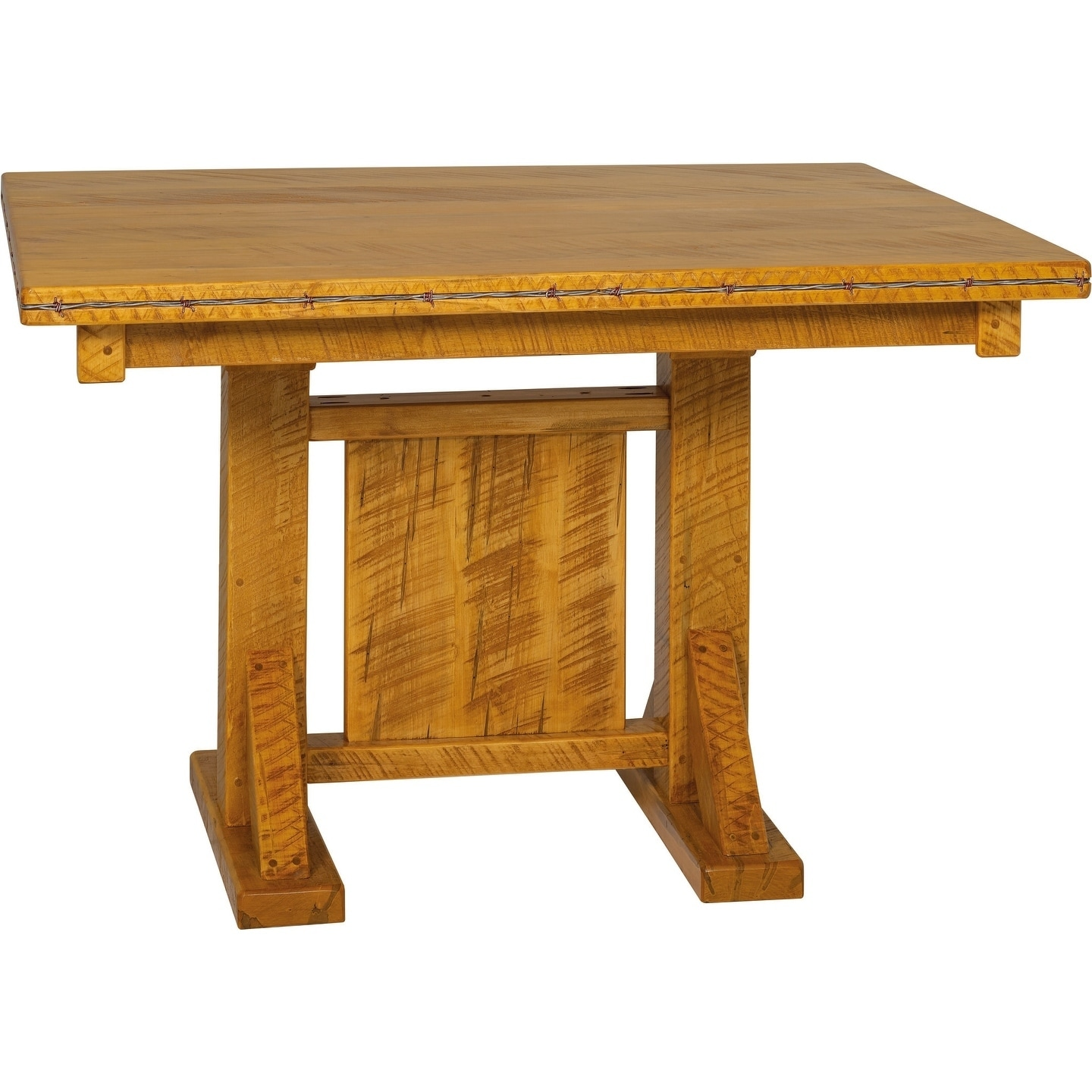 Western Twist 42x48 Dining Table in Wormy Maple (Provincial Stain)