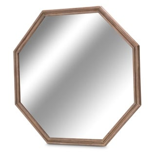 Hudson Ferry Driftwood Octagonal Sideboard Mirror by Kathy Ireland