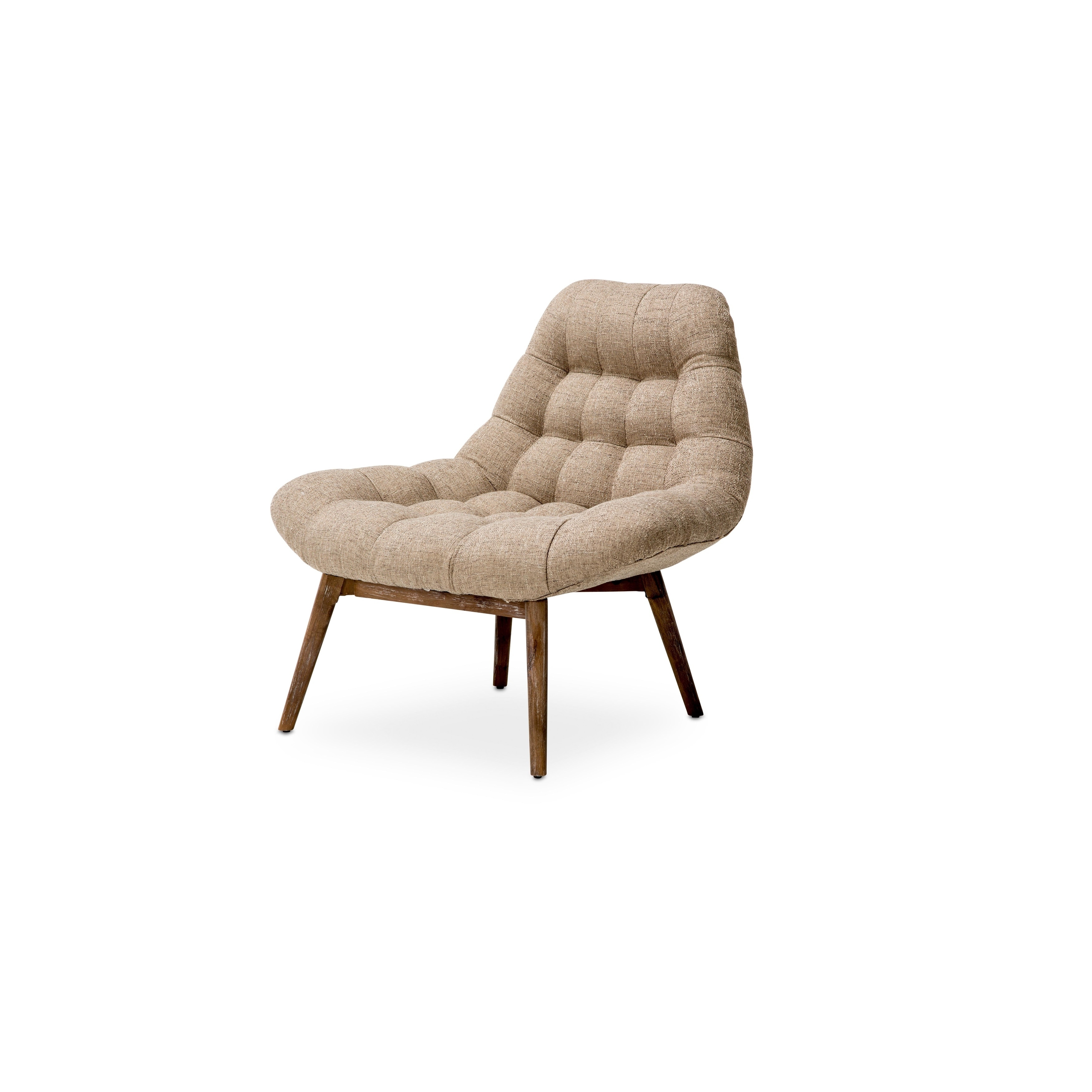 Bayside Gravel and Driftwood Tufted Accent Chair by Kathy Ireland