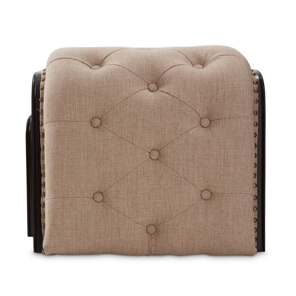 Cool Shop Kaylee Natural Tufted Bench With 2 Nested Ottomans By Uwap Interior Chair Design Uwaporg