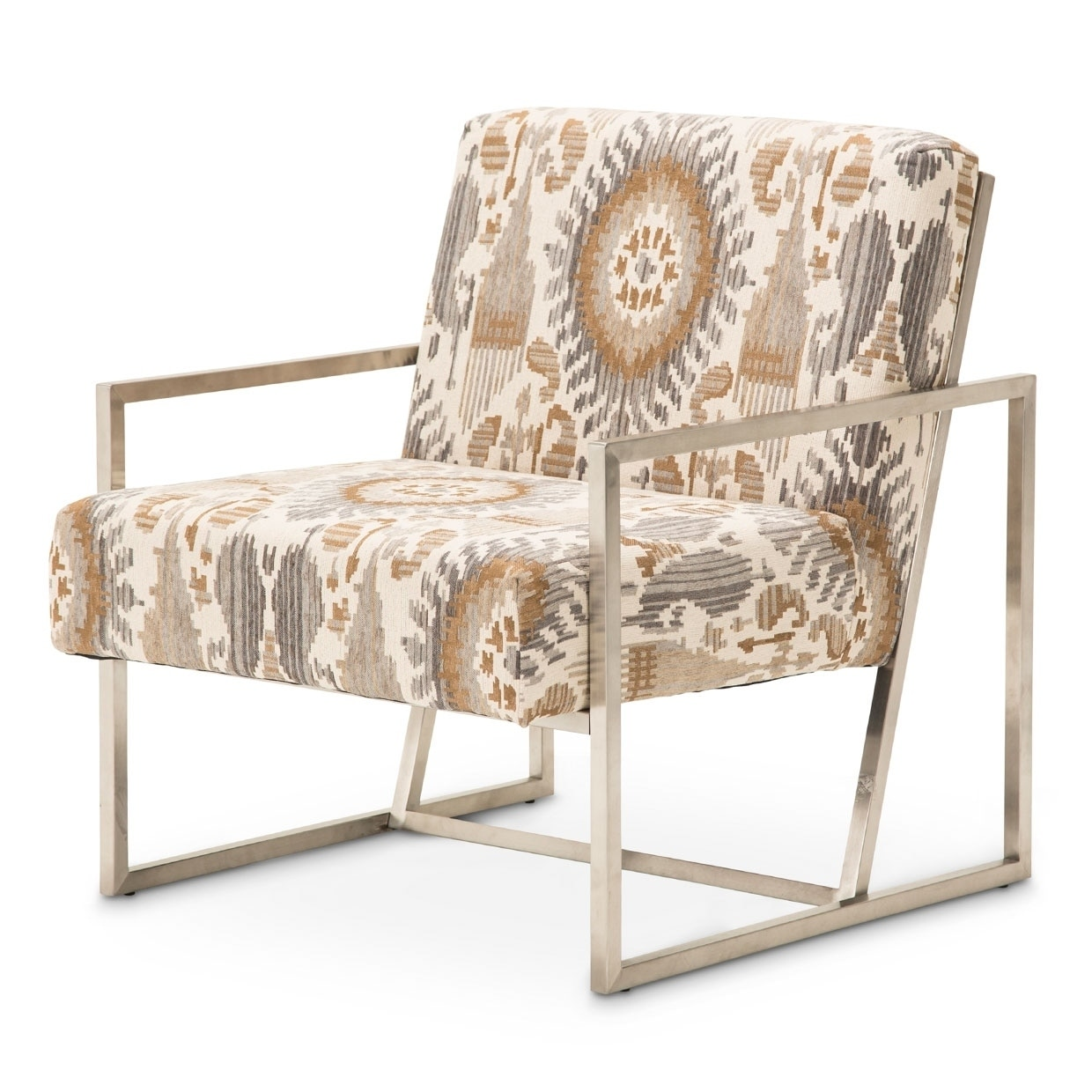Mission Desert and Brushed Silver Accent Chair by Kathy Ireland