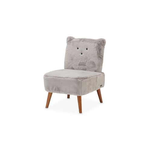 Silicon Babies Grey and Capri Kitten Armless Chair by Kathy Ireland