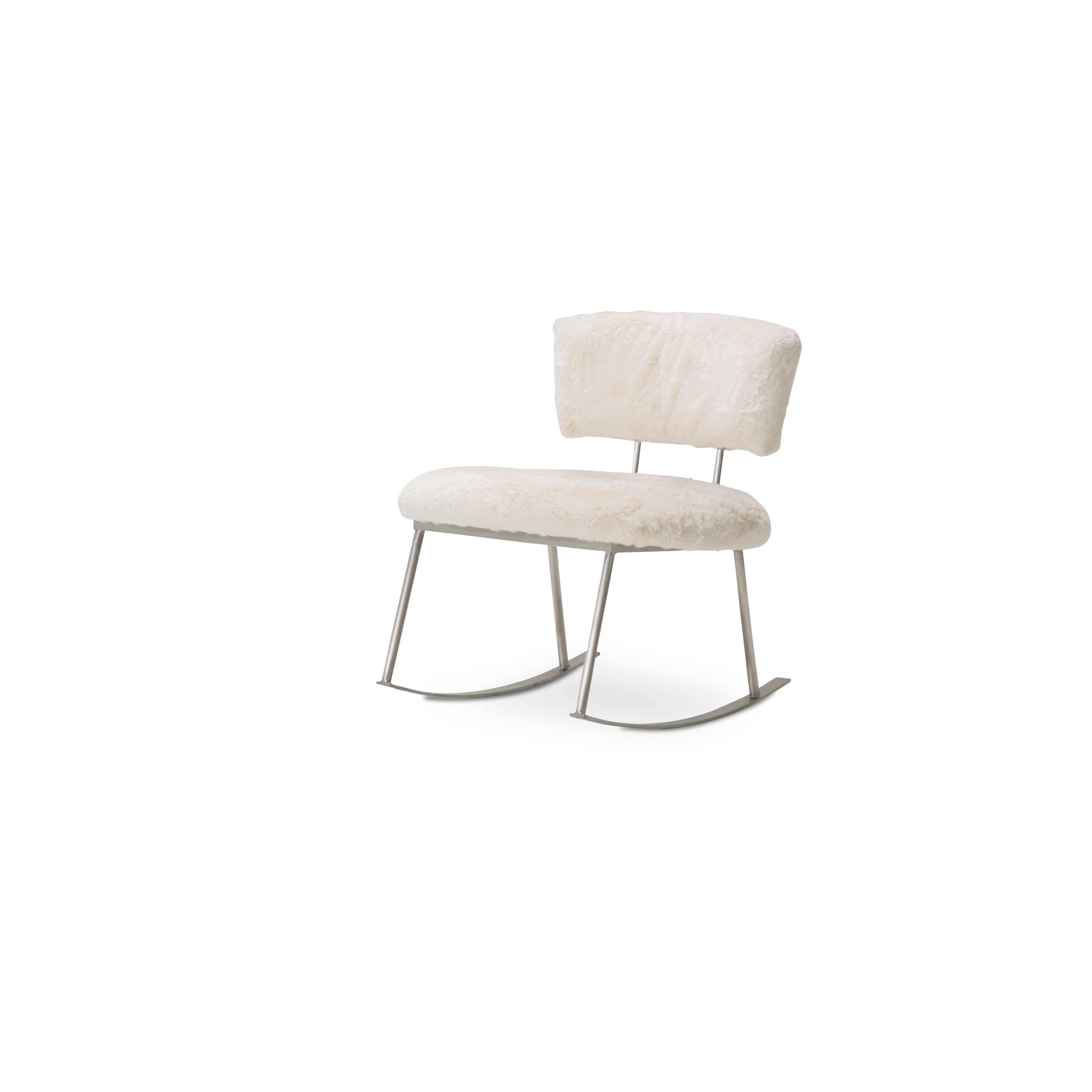 Pebble Beach Powder and Brushed Silver Rocker Chair by Kathy Ireland