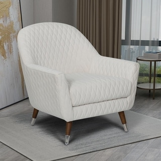 Kotter Home Modern Curve Back Accent Chair (Cream)