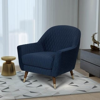 Kotter Home Modern Curve Back Accent Chair (Navy)