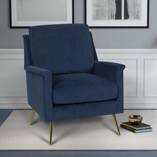 Kotter Home Modern Rollarm Accent Chair (Navy)