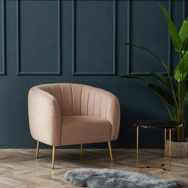 Astonishing Pink Mid Century Modern Living Room Chairs Shop Online At Machost Co Dining Chair Design Ideas Machostcouk