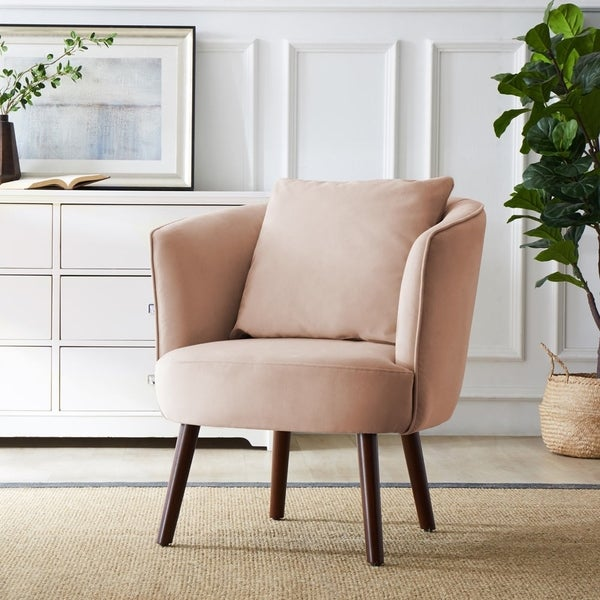 Miraculous Pink Mid Century Modern Living Room Chairs Shop Online At Machost Co Dining Chair Design Ideas Machostcouk