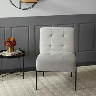 Kotter Home Armless Tufted Accent Chair (Grey Velvet)
