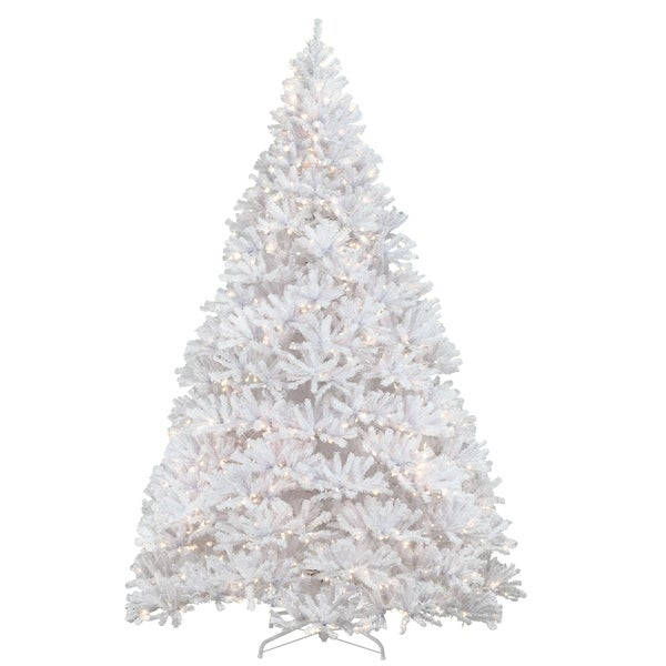 12 ft. Kingswood White Fir Pencil Tree with Clear Lights