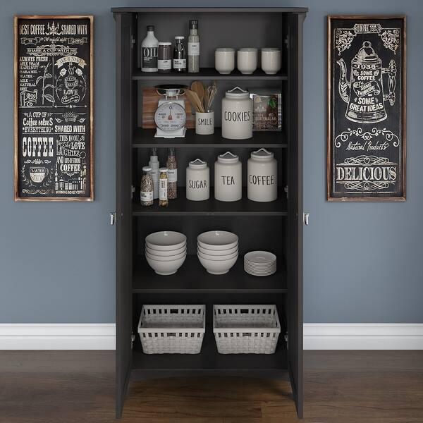 Shop Bush Furniture Salinas Kitchen Pantry Cabinet with ...