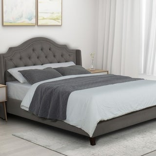 Kotter Home Upholstered Tufted Bed (Charcoal - Queen)