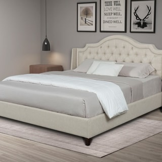 Kotter Home Upholstered Tufted Bed (Tan - King)