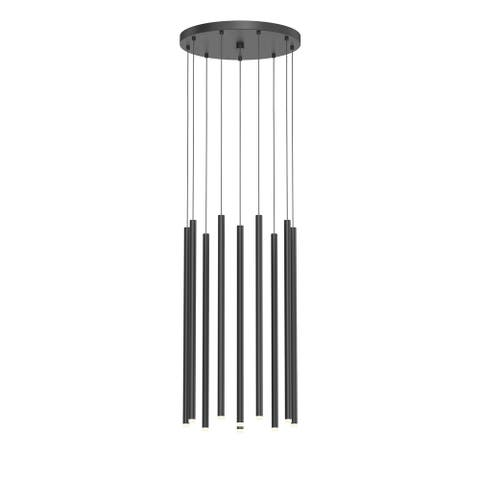 Light Chimes 24-inch Satin Black LED Cluster Pendant