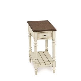 Solid Wood Chairside Table (White)
