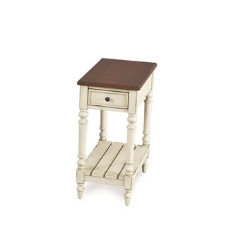 Solid Wood Chairside Table (Ivory)